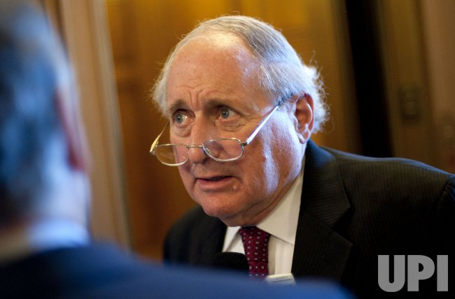 Sen. Carl Levin (D-MI) speaks to reporters in Washington