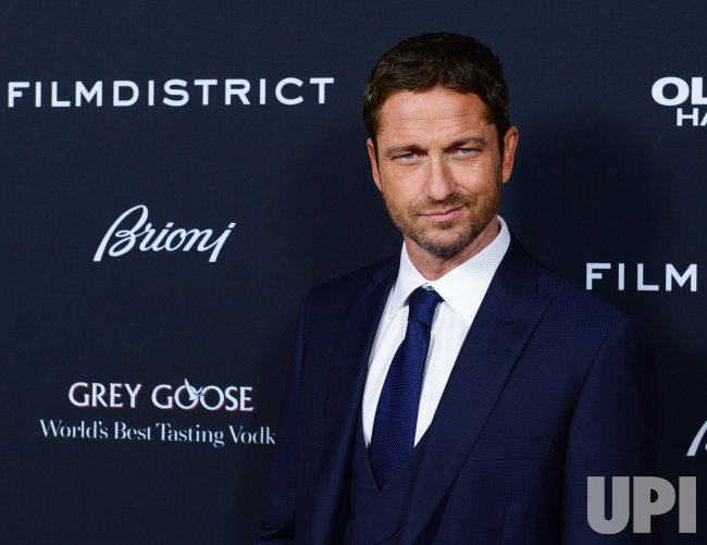 "Gerard Butler attends the ""Olympus Has Fallen"" premiere in Los Angeles"