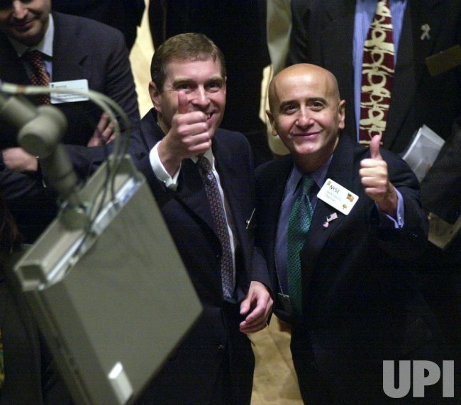 PRINCE ANDREW VISITS THE NEW YORK STOCK EXCHANGE