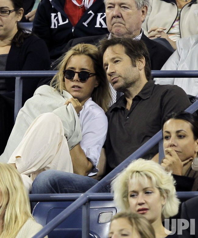 Tea Leoni and David Duchovny at the U.S. Open Tennis Championships in New York
