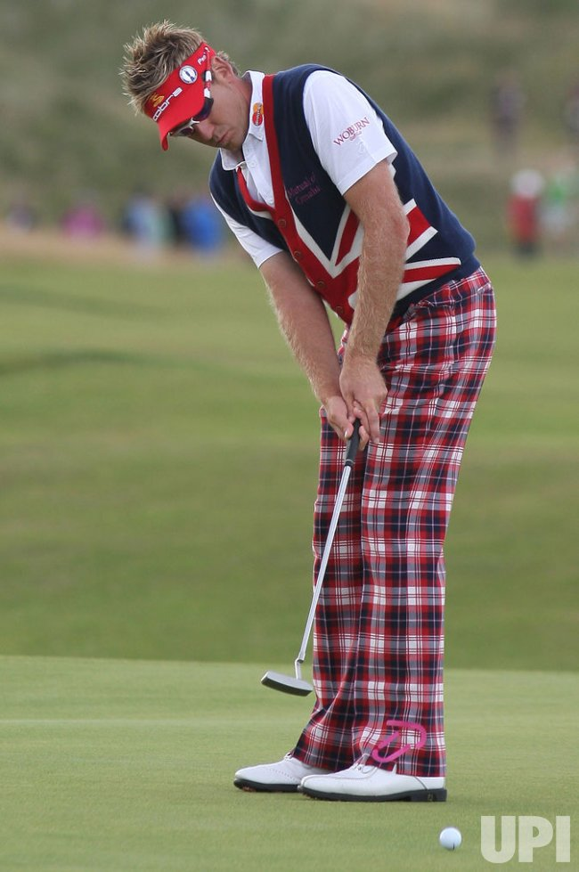 IAN POULTER IN ACTION ON FIRST DAY OF 138TH OPEN CHAMPIONSHIP