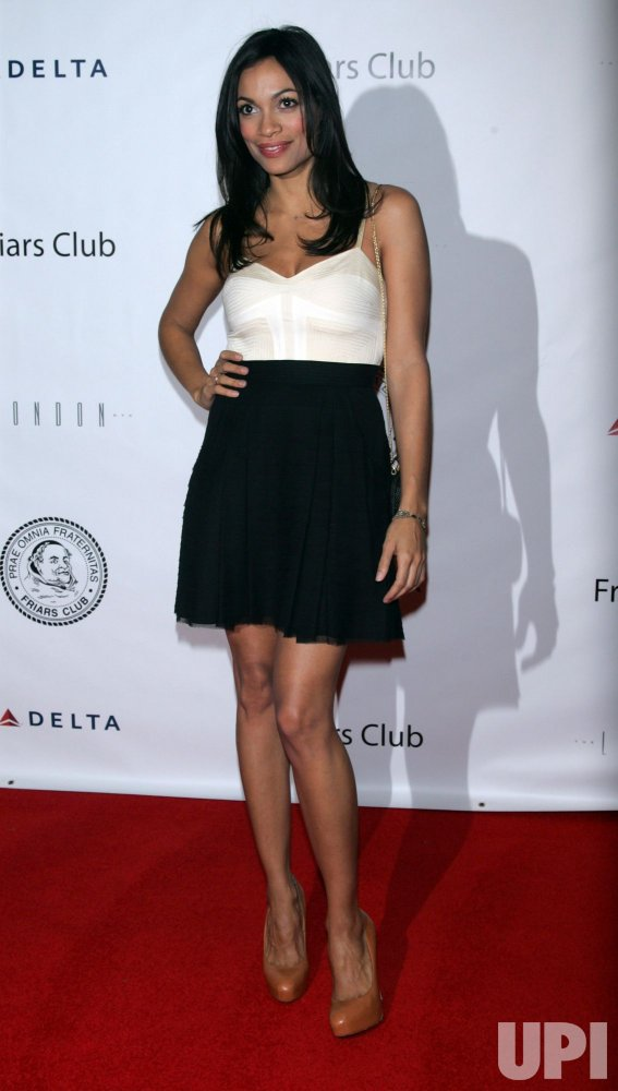 Rosario Dawson arrives for the Friars Club Roast of Quentin Tarantino in New York