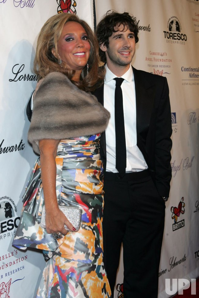 Denise Rich and Josh Groban arrive for Gabrialle's Angel Foundation for Cancer Research Angel Ball 2010 in New York
