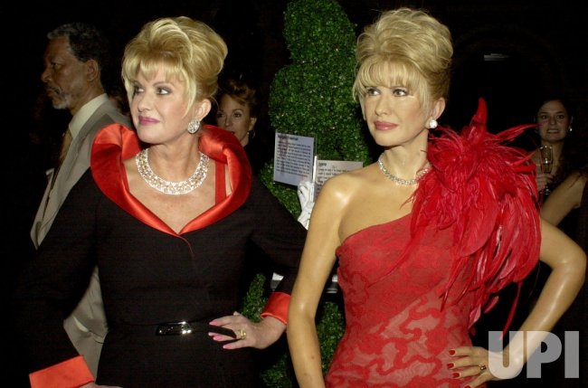 IVANA TRUMP VIEWS HER LIKENESS AT MADAME TUSSAUD'S