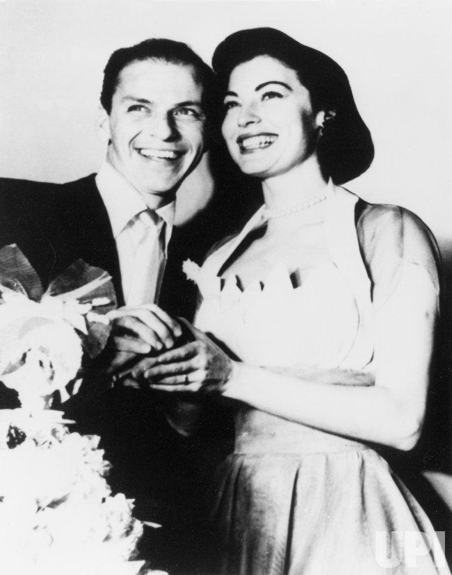 Frank Sinatra with Bride Ava Gardner - UPI.com