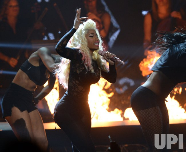 Nikki Minaj performs during BET Awards 12 in Los Angeles