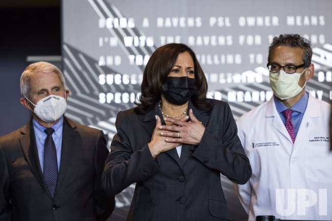 VP Harris visits vaccination site in Baltimore