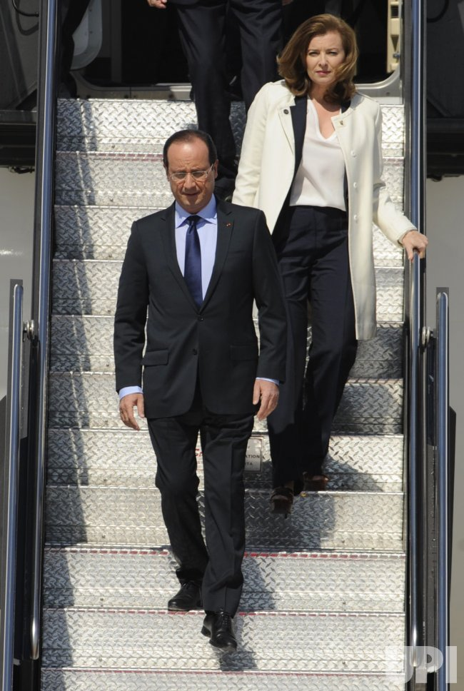 French President Hollande arrives in Washington for G-8 and NATO summits