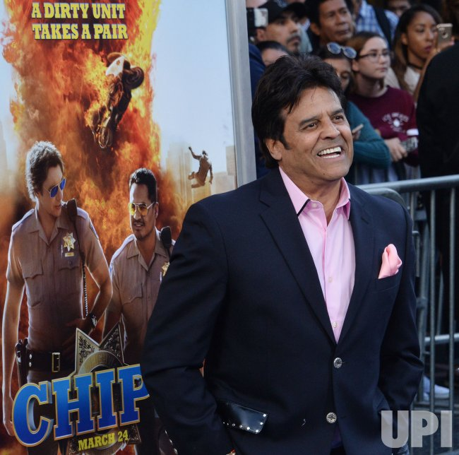 "Erik Estrada attends the ""CHIPS"" premiere in Los Angeles"