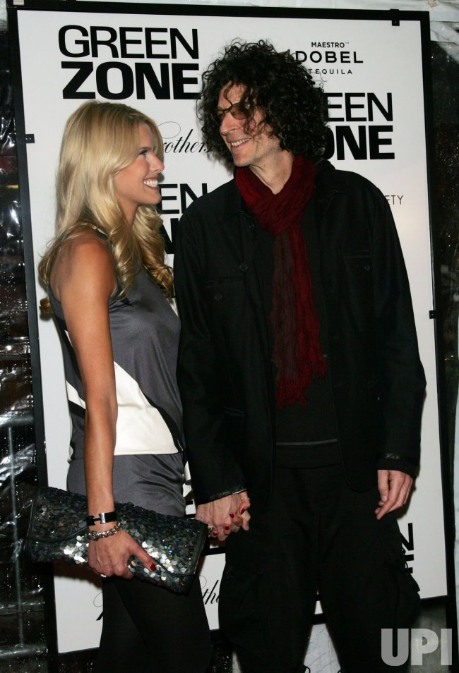 "Howard Stern and wife Beth Ostrosky arrive for the premiere of ""Green Zone"" in New York"