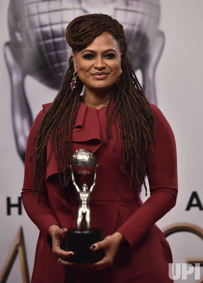 Ava DuVernay wins an award at the 49th NAACP Image Awards in Pasadena, California