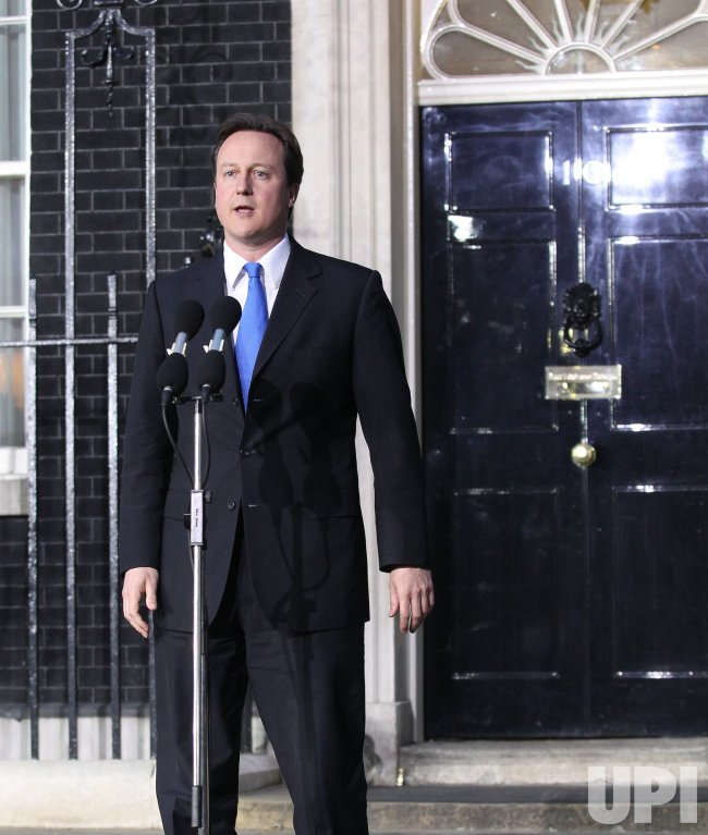 David Cameron speaks for the first time as Britain's Prime Minister