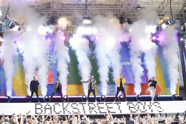 Backstreet Boys perform on GMA in New York