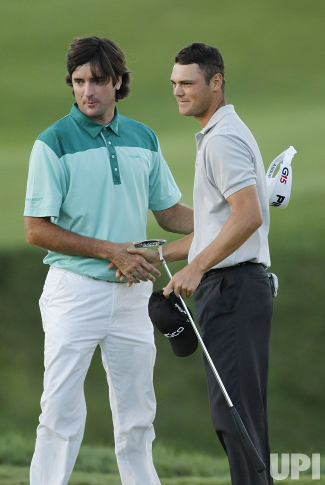 Kaymer and Watson shake hands after playoff for the PGA Championship