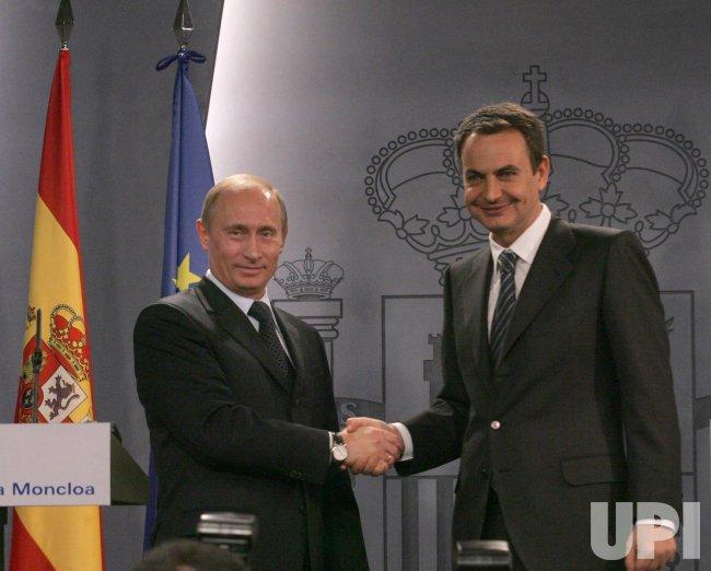 RUSSIAN PRESIDENT PUTIN VISITS SPAIN