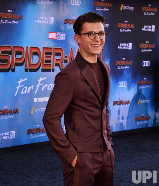 """Tom Holland attends the """"Spider-Man: Far From Home"""" premiere in Los Angeles"""