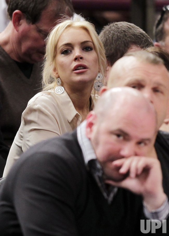 Actress Lindsay Lohan at Madison Square Garden in New York