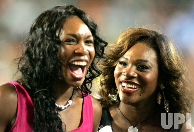 Venus and Serena Williams attend the Miami Dolphins game in Miami