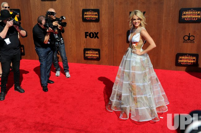 Singer Carrie Underwood attends the American Country Countdown Awards in Inglewood, Calif.