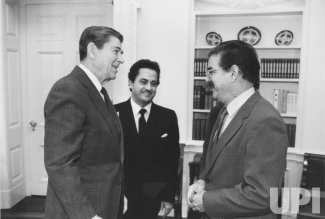 President Reagan Meets with Foreign Ministers