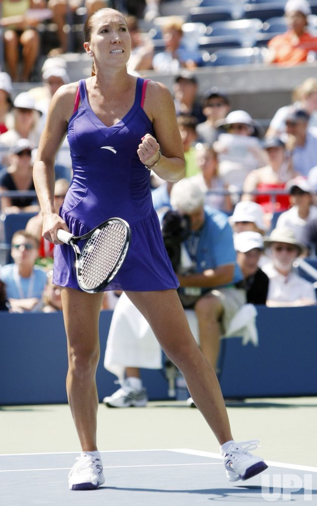 Jelena Jankovic and Simona Halep compete at the U.S. Open in New York