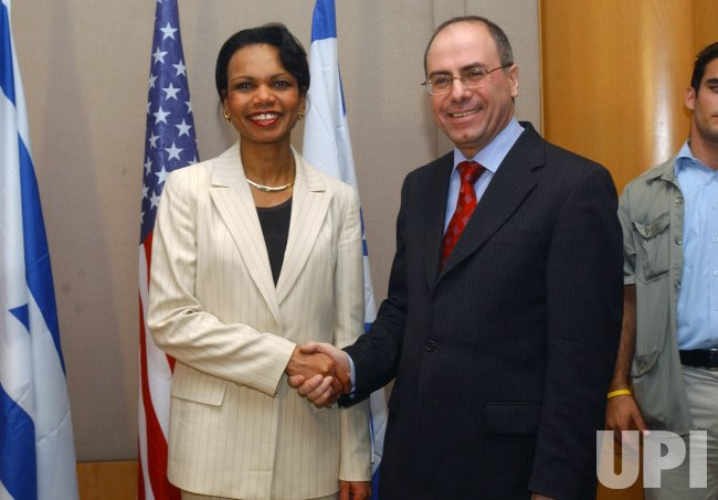 CONDOLEEZZA RICE MEETS ISRAELI LEADERS