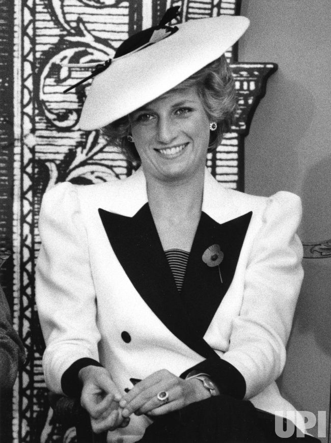 Princess Diana meets the Press at the National Gallery of Art in Washington DC