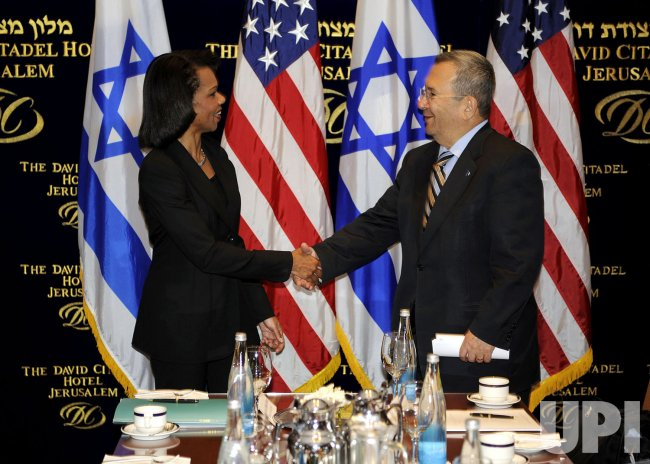 US Secretary of State Rice meets with Israel Foreign Minister Tzipi Livni in Jerusalem