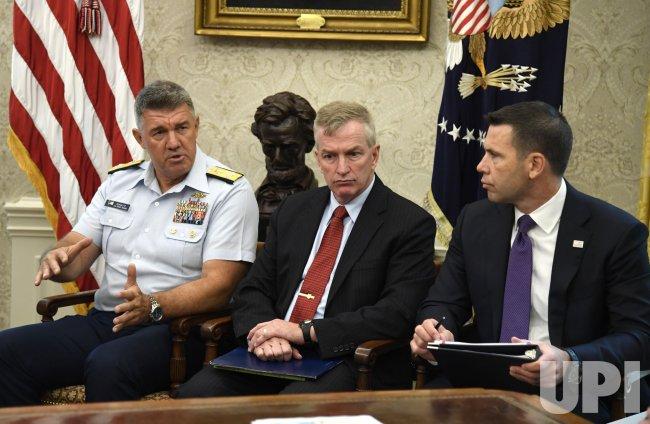 President Trump is briefed on Hurricane Dorian