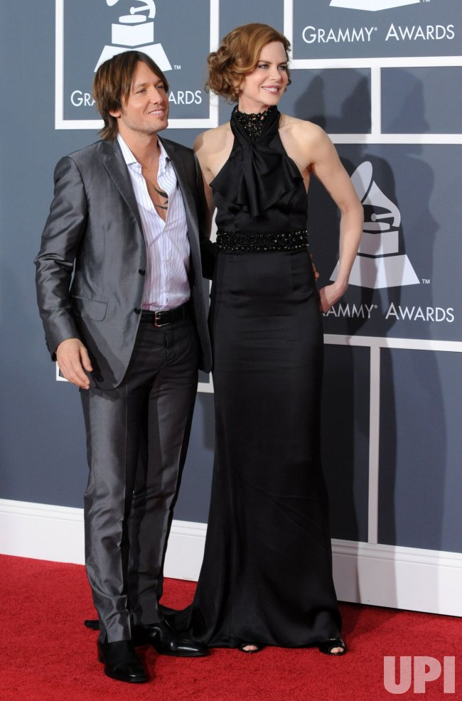 Nicole Kidman and Keith Urban arrive at the 52nd annual Grammy Awards in Los Angeles