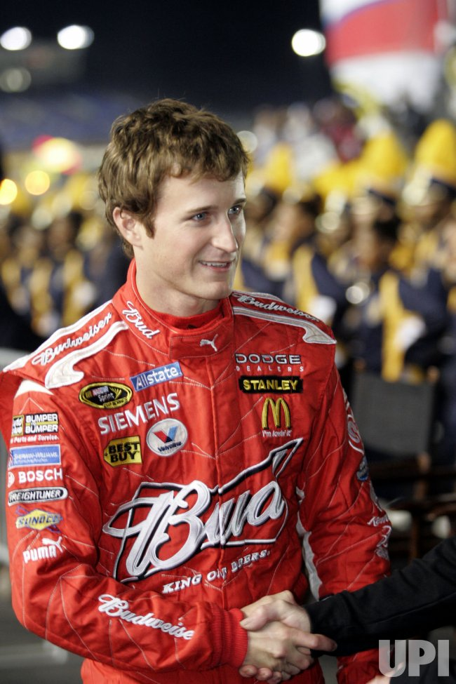 NASCAR driver Kasey Kahne at Banking 500 race at Lowe's Motor Speedway in Concord, North Carolina