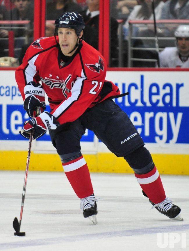 Washington Capitals' Mike Knuble is seen in Washington