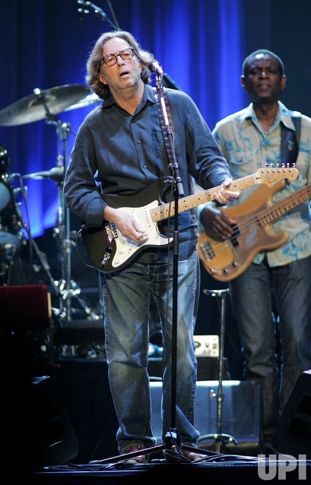 Eric Clapton performs in concert in Sunrise, Florida
