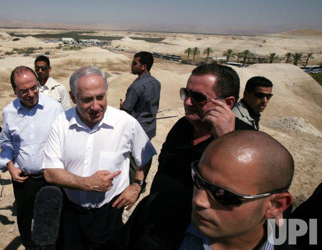 Israeli Prime Minister Benjamin Netanyahu visits Allenby Crossing at Jordan border