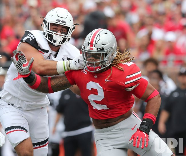 Ohio State S Chase Young Blocked By Cincinnati S Deguara