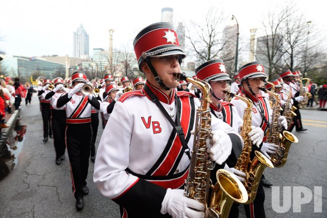 Vero Beach Florida High School Band In Peach Bowl Parade