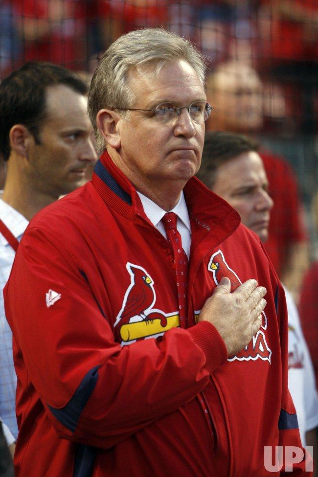 Missouri Governor Jay Nixon attends Atlanta Braves vs St. Louis Cardinals game