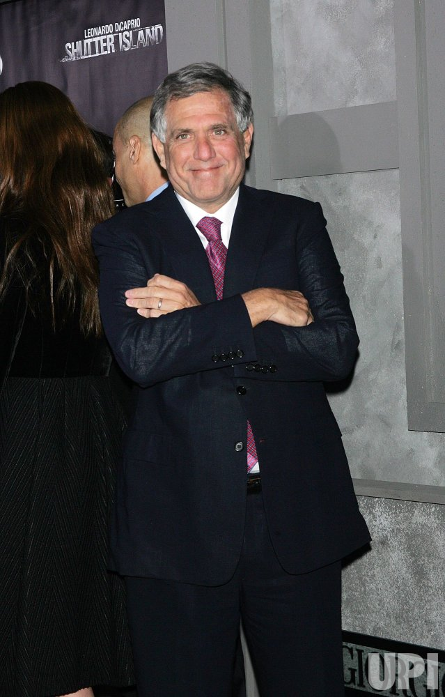"""Les Moonves arrives for the Premiere of """"Shutter Island"""" in New York"""