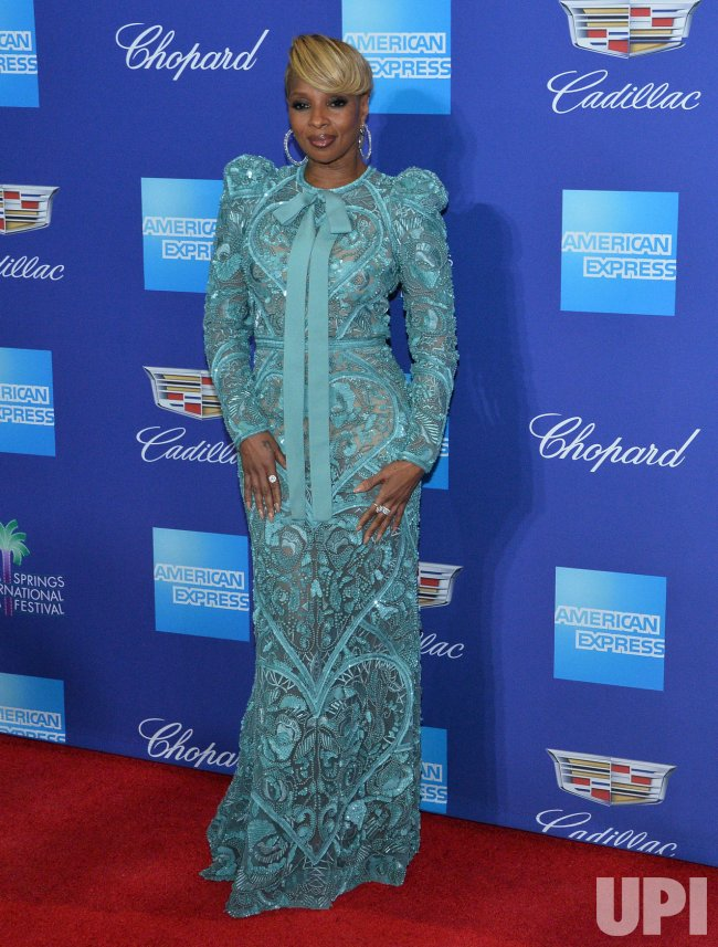 Mary J. Blige attends the Palm Springs International Film Festival in Palm Springs
