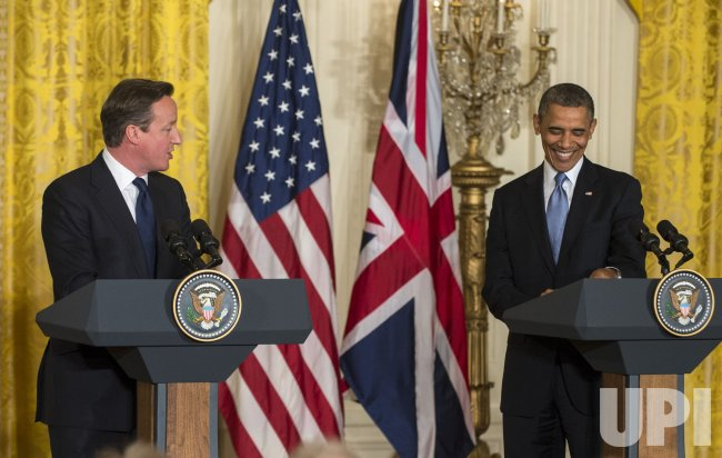 British PM Cameron and U.S. President Obama Have Joint Press Conference