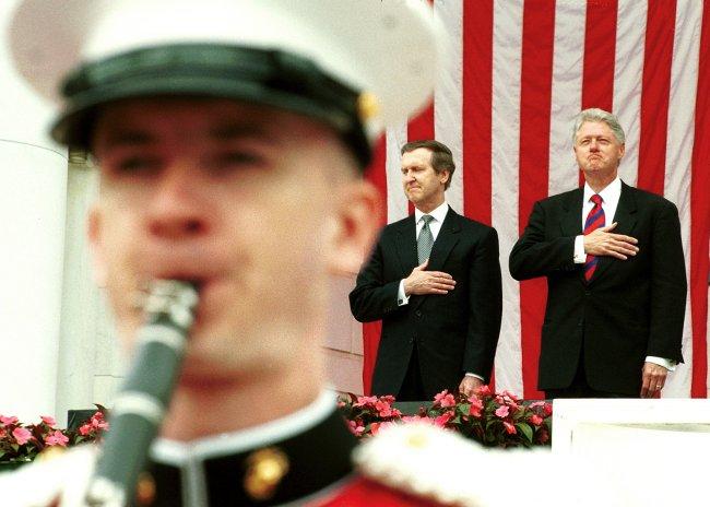 President Clinton and Secretary of Defense William Cohen
