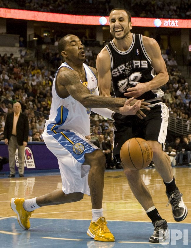 Nuggets Smith Fouls Spurs Ginobili in Denver