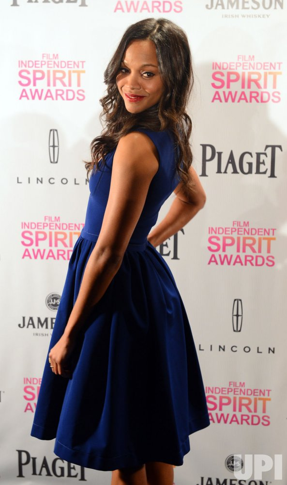 Zoe Saldana announces nominations for 2013 Film Independent Spirit Awards in Los Angeles