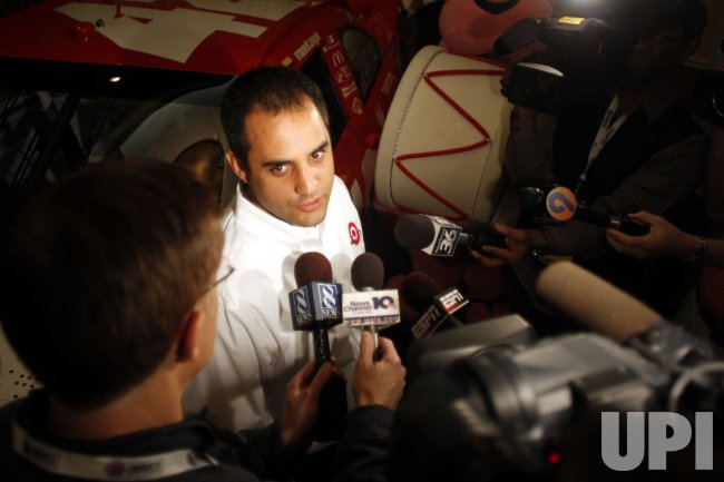 Juan Pablo Montoya at NASCAR media tour event in Charlotte, North Carolina