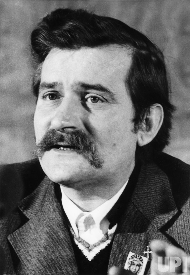Lech Walesa, founder of the Solidarity movement in Poland