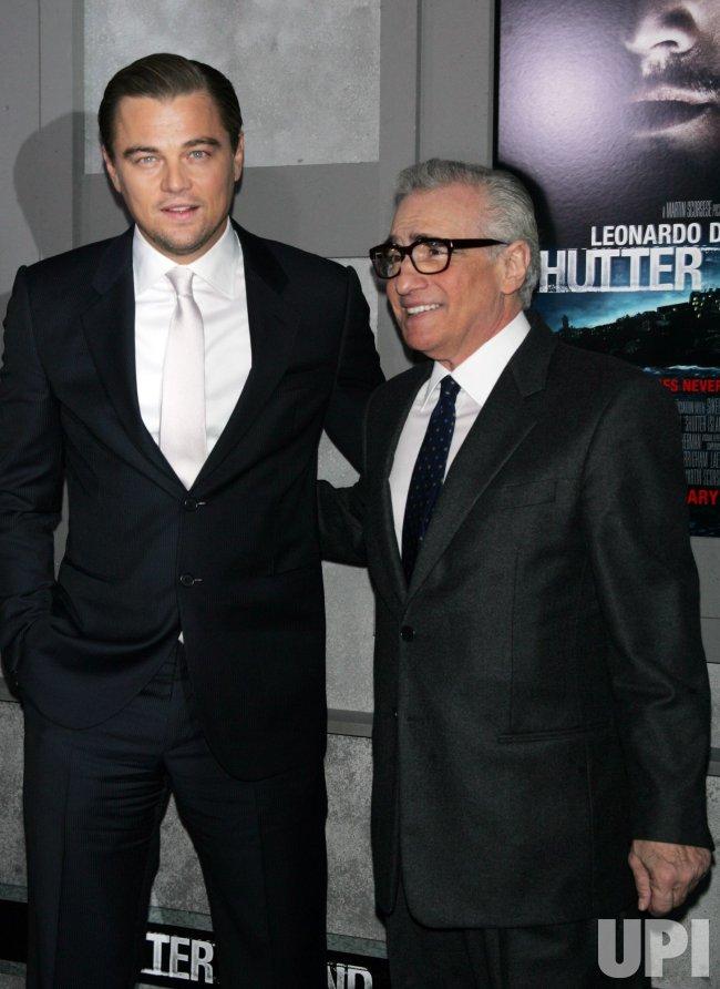 "Leonardo DiCaprio and Martin Scorsese arrive for the Premiere of ""Shutter Island"" in New York"