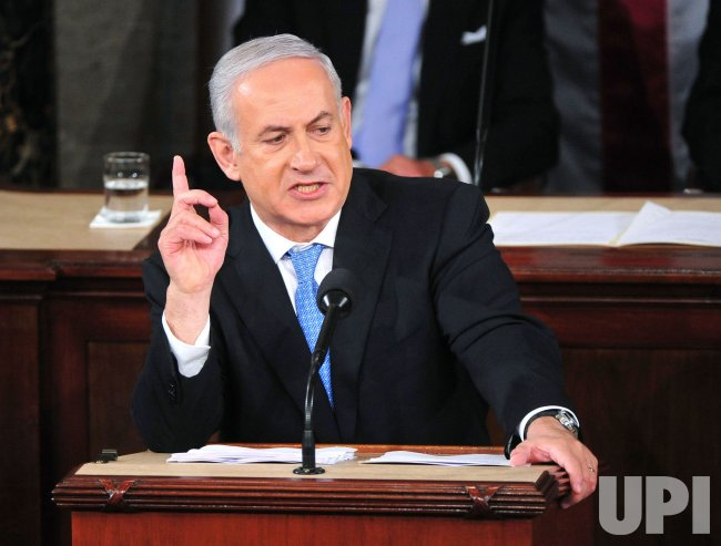 Israeli Prime Minister Benjamin Netanyahu addresses a joint meeting of Congress in Washington