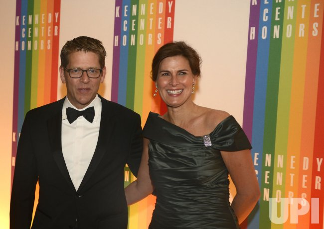 WH Press Secretary Carney arrives for 2013 Kennedy Center Honors Gala in Washington DC