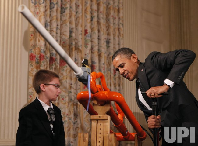 President Barack Obama hosts the White House Science Fair in Washington