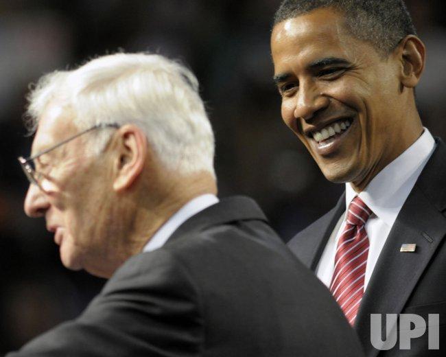 Barack Obama Speaks at Mellon Arena in Pittsburgh.